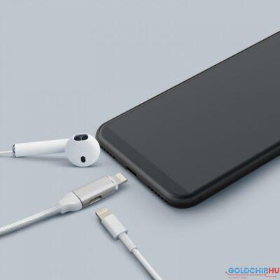 Delight 2 az 1-ben iPhone Lightning Adatkábel White