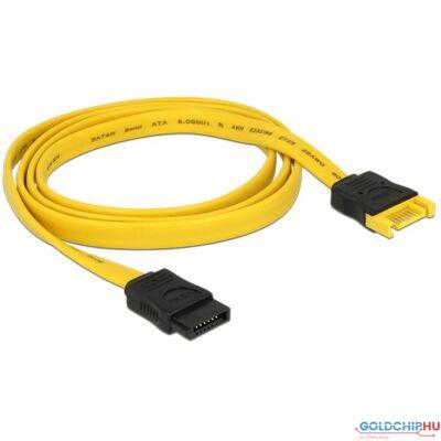 DeLock SATA 6 Gb/s plug > SATA receptacle 100cm Extension cable Yellow