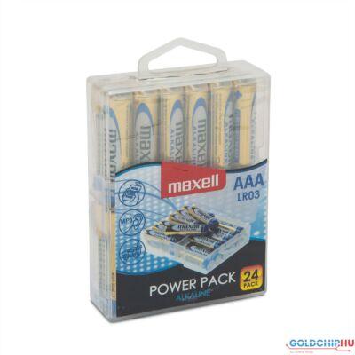 Maxell alkáli ceruza elem (AAA)  Power Pack 24db/csomag